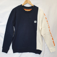 DC Wepma Crew Sweatshirt - Navy/White
