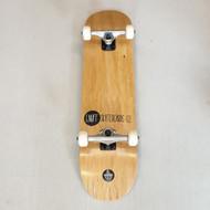 "Enuff 7.75"" Logo Stain Complete Skateboard Setup - Wood Grain"