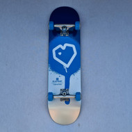 Blueprint Heart Complete Skateboard - 8.25 Inch - Blue/Silver