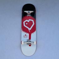 Blueprint Heart Complete Skateboard - 8.25 Inch - Red/Black