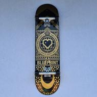 Blueprint Home Heart Complete Skateboard - 8 Inch - Black/Gold