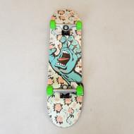 "Santa Cruz - Floral Decay Screaming Hand - 8"" Complete Skateboard"