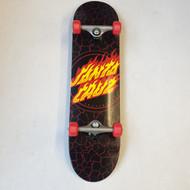"""Santa Cruz - Flame Dot - 8"""" Complete Skateboard - Black"""