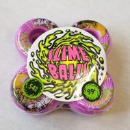 Santa Cruz Slime Balls Skateboard Wheels - Purple - 54mm 99a