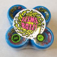 Santa Cruz Slime Balls Skateboard Wheels - Blue - 60mm 97a