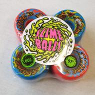Santa Cruz Slime Balls Skateboard Wheels - Red/Blue - 60mm 97a