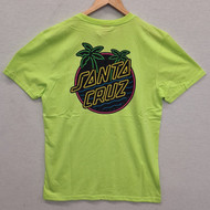 Santa Cruz T-Shirt - Glow Dot - Yellow