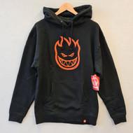 Spitfire Big Head Hoodie - Black/Orange