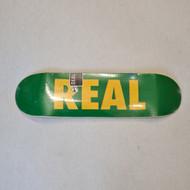 REAL Skateboards 8.38 Logo Deck - Green
