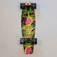 "Madd Retro Skateboard - 22.5"" Crusier Skateboard - Paint Splatter"