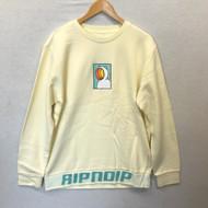 RIPNDIP - Open Mind Crew Sweatshirt - Cream