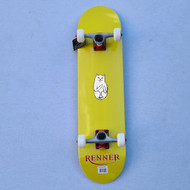 "Renner 7.75"" Complete Skateboard - Yellow - Ripndip Lord Nermal"