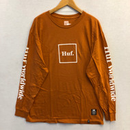 Huf Domestic Long Sleeve Tee - Orange/Red