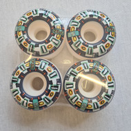 Blind Round Space 52mm Wheels - 99a - White