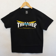 Thrasher X Venture Skateboard Magazine Tee Black