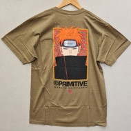 Primitive Skateboards X Naruto - Know Pain Tee - Army Green