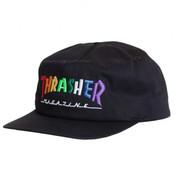 Thrasher Cap Rainbow Mag Snapback Black