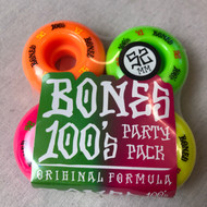 Bones 100's Party Pack 100a 52MM Skateboard Wheels