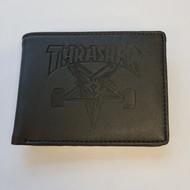 Thrasher Skate Goat Leather Wallet - Black