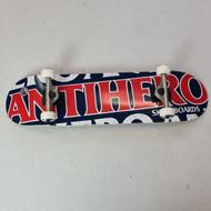 """Anti Hero 8.25"""" Blackhero Complete Skateboard - Navy"""