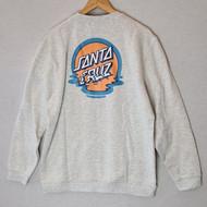 Santa Cruz Skateboards Dot Reflection Crew Sweatshirt - Grey