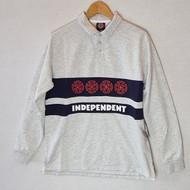 Independent Skateboards Polo Crew Sweatshirt - Grey Heather