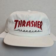 Thrasher Magazine - Snapback Hat - White/Red