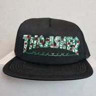 Thrasher Skateboard Magazine Rose's Snapback Hat - Black