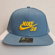 Nike SB Classic Logo Snapback Hat - Blue