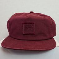 HUF Snapback Box Logo Hat - Burgundy