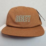 Obey - Lynwood 6 Panel Snapback Cap - Brown