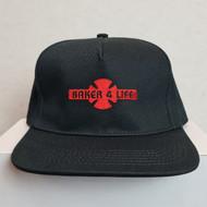Independent X Baker Snapback Hat - Black