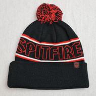Spitfire Hombre Pom Beanie - Black/Red