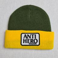 Anti Hero Cuff Beanie - Yellow/Olive