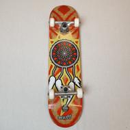 "Enuff Dreamcatcher 7.25"" Mini Complete Skateboard - Red/Gold"