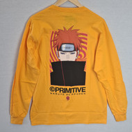 Primitive Skateboards X Naruto - Know Pain Longsleeve Tee - Golden Yellow