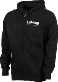 Thrasher Zip Hood Logo - Black