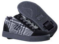 Heelys - Straight Up - Black/Plaid/Charcoal/White