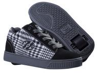 Heelys - Straight Up - Black/Plaid/Charcoal/White