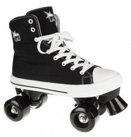 Rookie Rollerskates Canvas High  - Black