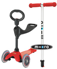 Mini Micro 3-in-1 Ride On Scooter - Red