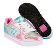 Heelys Motion Plus - Silver/Light Pink/Light Blue
