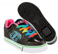 Heelys Motion Plus - Black/Hot Pink/Rainbow