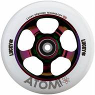 Lucky Atom 110mm Wheels - Neochrome / White