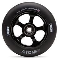 Lucky Atom 110mm Scooter Wheel - Black / Black
