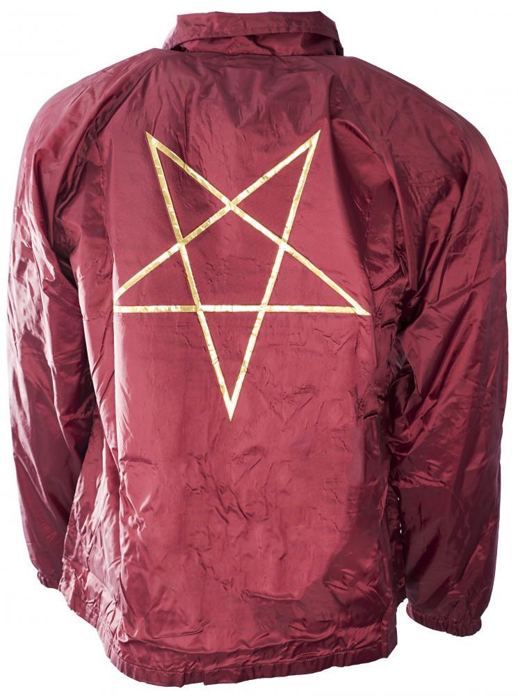 11429fa24c4d Thrasher Jacket Pentagram Coach - Maroon - The Boardroom