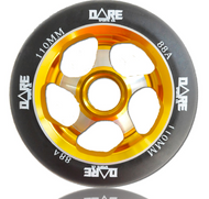 Dare Motion 110mm Scooter Wheel - Gold