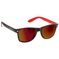 Glassy - Leonard Sunglasses - Black / Red Mirror