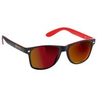 Glassy - Leonard Sunglasses - Black / Red Mirror