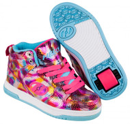 Heelys Flash 2.0 Hi-Top - Snake Pink Metalic